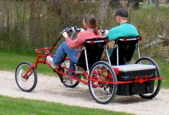 Microcar two seat recumbent tandem   Lightfoot Recumbent Cycles
