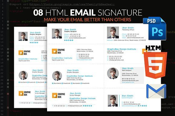 Email Signature by pixel_arc on @creativemarket | E-Mail