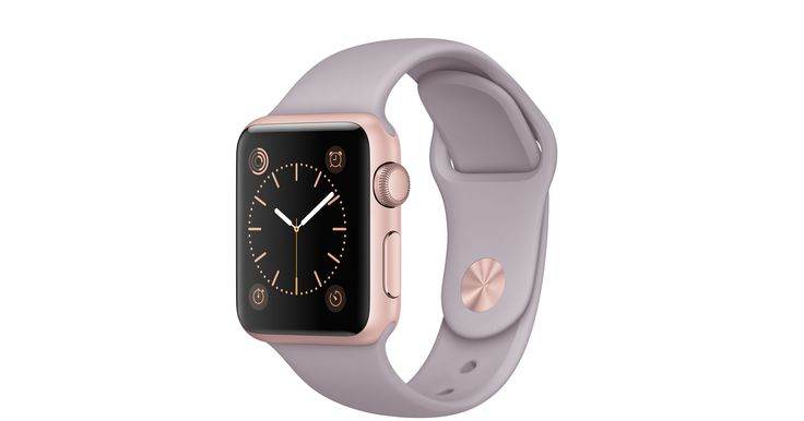 Get free shipping and returns when you buy a 38mm Apple Watch Sport with a rose gold aluminum case and lavender sport band online.