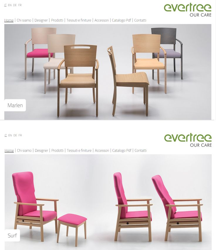 #Sitointernet per il brand #Evertree dell'azienda produttrice di sedie #Arbor , dove vengono presentate le loro collezioni di #sedie e #poltrone www.evertree.it
