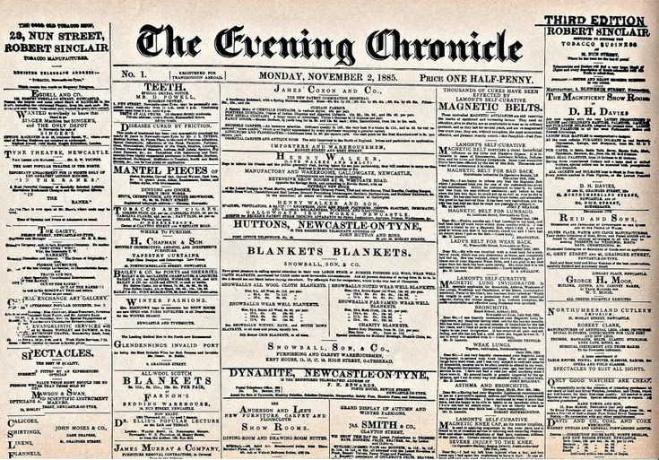 Image result for 1885 newspaper britain