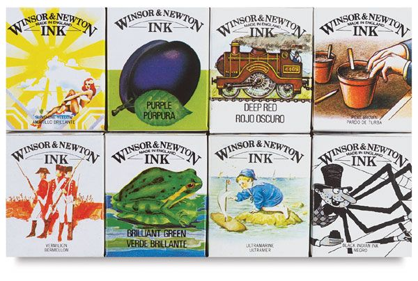 Winsor & Newton Drawing InksIntroductory Sets, Winsor And Newton Ink, Packaging Design, Drawing Ink, Drawing Supplies, Newton Drawing, Ink Sets, Art Supplies, Artists Advi