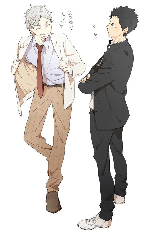 Sugawara & Iwaizumi | Haikyuu!! | Artist: ゆこ [pixiv]