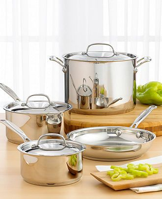 Cuisinart Cookware, Chef's Classic Stainless 7 Piece Set - Cookware Sets - Kitchen - Macy's