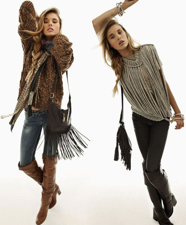 Boots, lace, knits, fringe, denim, and a touch of effortless je ne sais quoi . . .