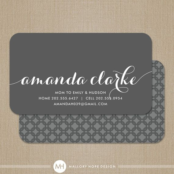 personalized calling cards