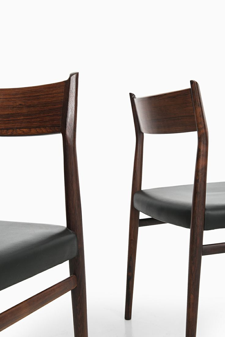 Arne Vodder dining chairs model 418 by Sibast at Studio Schalling