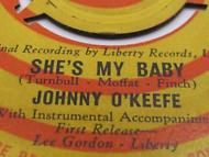 "45 RPM Record Nostalgic Music ""SHE'S MY BABY"" Jhonny O Keefe Number ONE HIT"