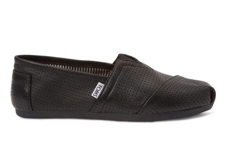 """Great for the """"no sock look"""". I personally find them really comfortable too. This is a great conversational peace with woman because they love toms. Most Women pay far more attention to the sublets of your outfit than you'd think. If ever you have to impress a woman in a professional setting (potential employer) go with the trendy look ;).   Black Perforated Leather Men's Classics"""