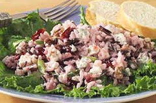 receipe: Long Grain and Wild Rice Salad with Blue Cheese, Cranberries and Walnuts Recipe - Kraft Recipes