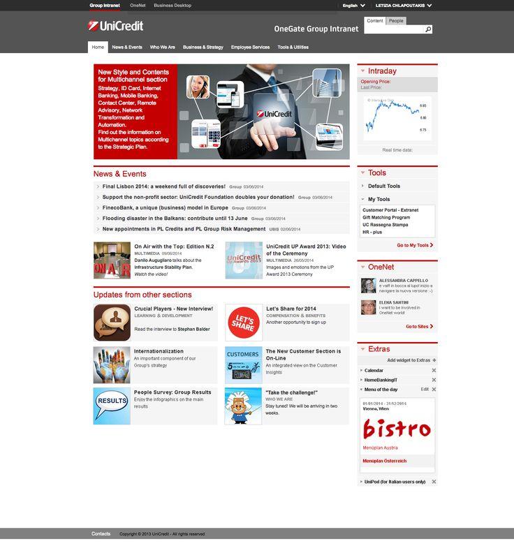 #UniCredit #Intranet Homepage - #GroupIntranet #UX #UserCenteredDesign #IntranetDesignAnnual #NielsenNorman