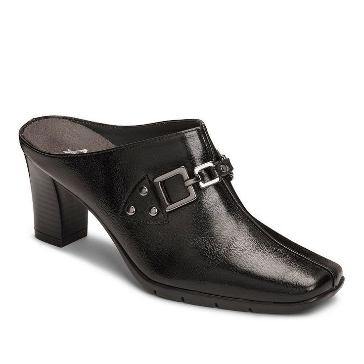 A2 by Aerosoles Matrimony Women's Heeled Clogs, Size: medium (10.5), Black