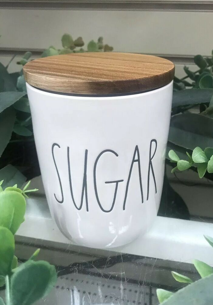 Rae Dunn Sugar Salt Pepper Container Cellar With Wood Lid Ebay