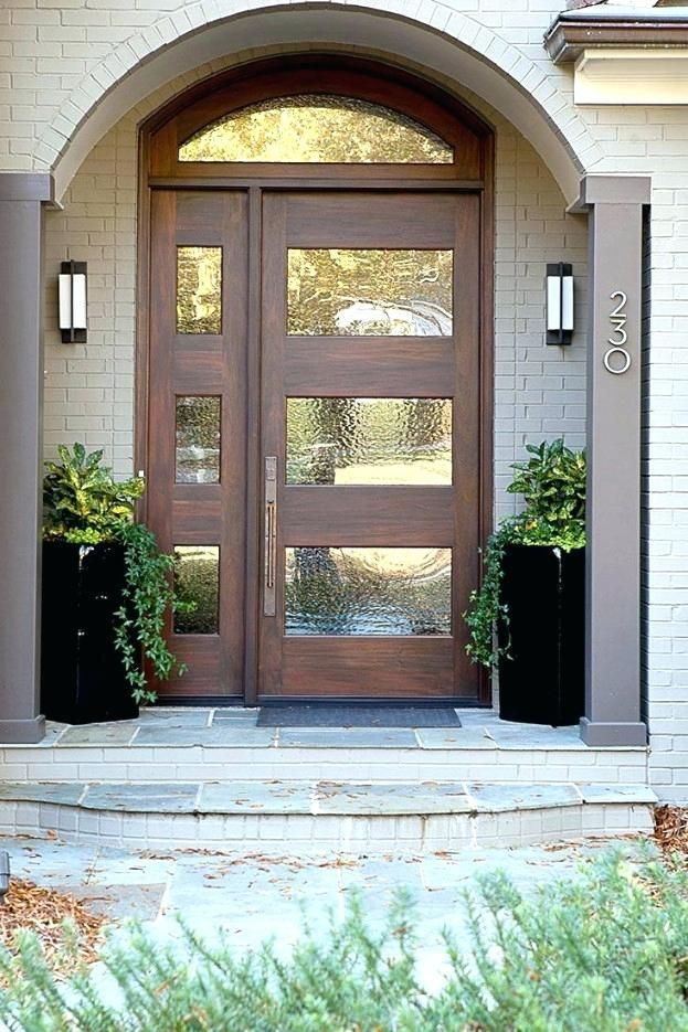 99 Front Enterance Landscaping Contemporary Front Doors