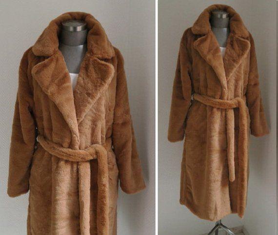Kunstfell Mantel Fake Fur Mantel Webpelz Maximantel Teddymantel Wintermantel Webpelzmantel Lang Damenmantel Lang Mantel Beige Gurtel Fake Fur Fur Coat