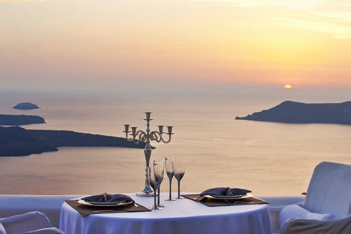 You have definitely dreamt of this... Candle-light dinner by the sunset of #Santorini... Let us turn your dream into reality! (See more at http://www.gastronomysantorini.com and http://www.candlelightdinnersantorini.com)