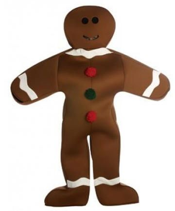 Roaming gingerbread man character  Alan Casey Entertainment Agency