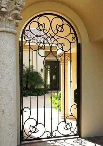 Courtyard Handtrail-58 - Wrought Iron Doors, Windows, Gates, & Railings from Cantera Doors