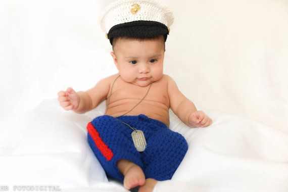 Marine baby clothes USMC baby hat and pants by conniemariepfost, $50.00