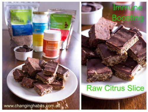 Do you have trouble getting your kids to take their Changing Habits Probiotics and Camu Camu Powders?  Why not try this Raw Citrus slice that is not only immune boosting, gut friendly and full of Cacao and Coconut goodness, your children will not even know its in there and they will definitely be asking for more!