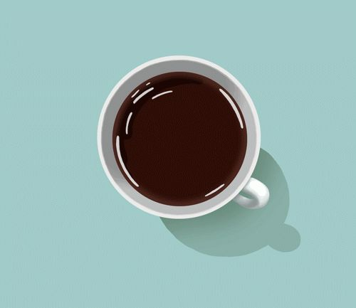 Complementarios (marrón y azul); énfasis en el interior de la taza, variedad de trazos que conforman la taza.