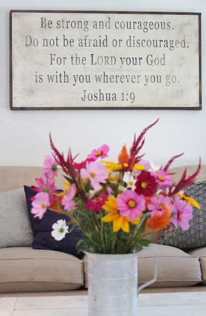 Our Wedding Verse!  Flower Patch Farmgirl: Our Living Room and the Icing on the Cake