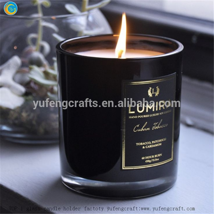 Matt black scented candles wax warmer yufeng craft