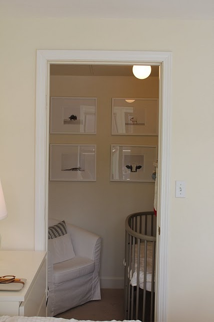 Transform A Small Utilitarian Space Into Warm Nooks For Their Babies This Is Pretty Much My Vision Our Walk In Closet Sitting Area Turned Nursery