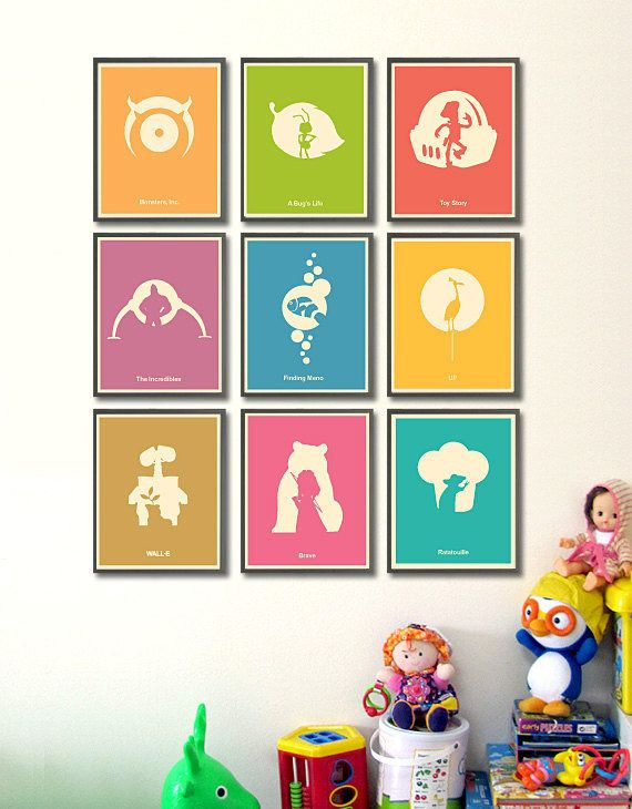 Pixar Minimalist Poster Set: Monsters, Inc., A Bug's Life, Toy Story, and many more are stripped down to their bare essentials in this poster set ($60). Each textured cardstock print is 8 by 10 inches with a generous border.