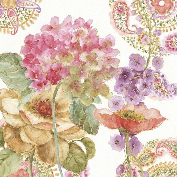 Rainbow Seeds Paisley 2 - Fotobehang & Behang - Photowall