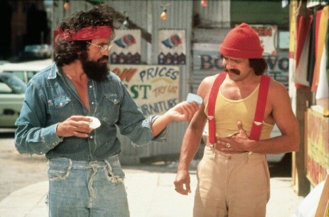 I would love to dress like cheech in a girl version chong would be my friend
