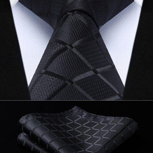 Hodvábna kravatová sada - kravata a vreckovka - vzor 31