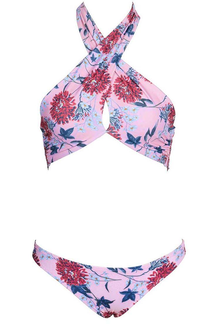 Cupshe So Sunny Floral Bikini Set