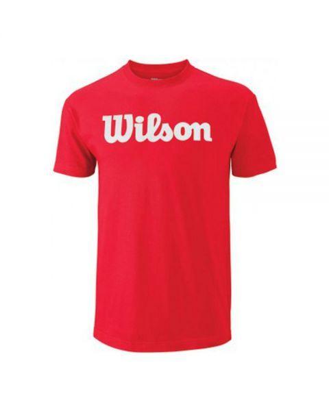 05ab0b392 Camiseta wilson script gris logo rojo wra747807 | Ropa de pádel ...