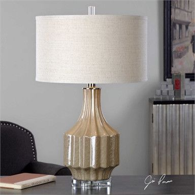 Uttermost Barron Sand Brown Table Lamp