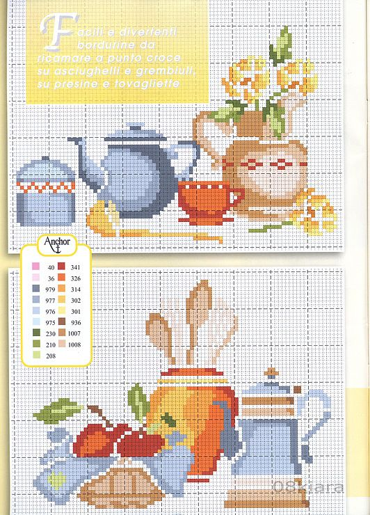 Nice kitchen theme cross stitch chart