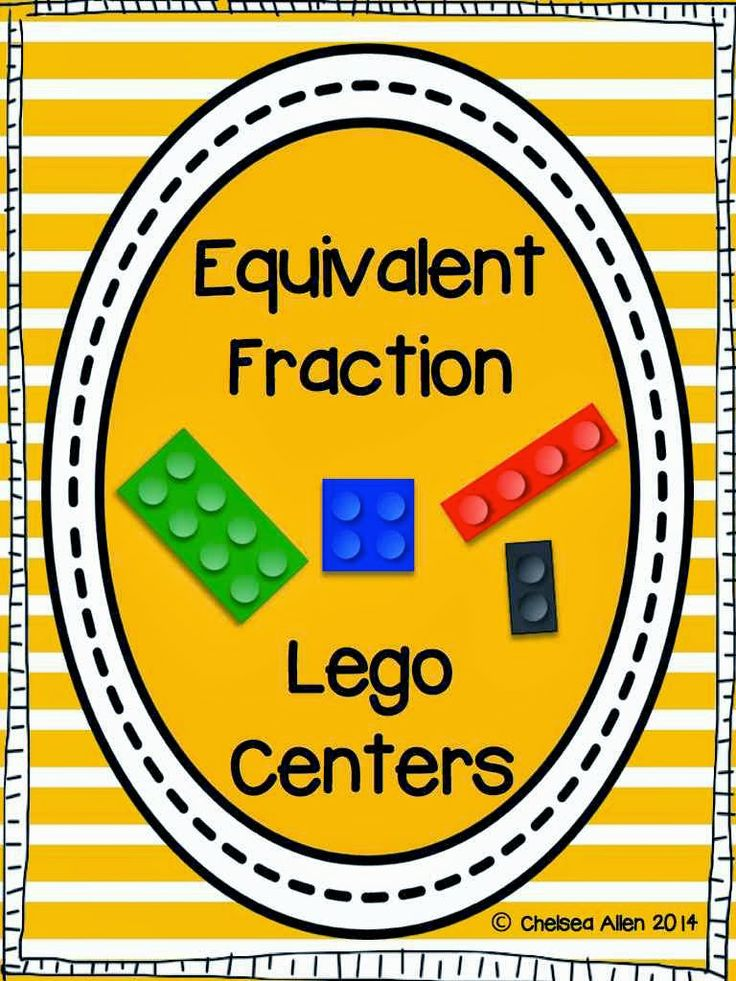 Here's the TPT comparing fractions center activity with Legos in action!