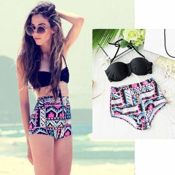 Sexy Moda Feminina Conjunto Push-up Bra acolchoado cintura alta biquini de banho Swimwear Beachwear Sunwear