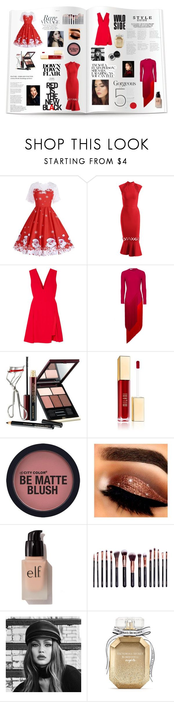 """""""Christmas Catalog"""" by celestialstyles7408 ❤ liked on Polyvore featuring Versace, STELLA McCARTNEY, Kevyn Aucoin, e.l.f., M.O.T.D Cosmetics, Maybelline, Victoria's Secret and Bobbi Brown Cosmetics"""