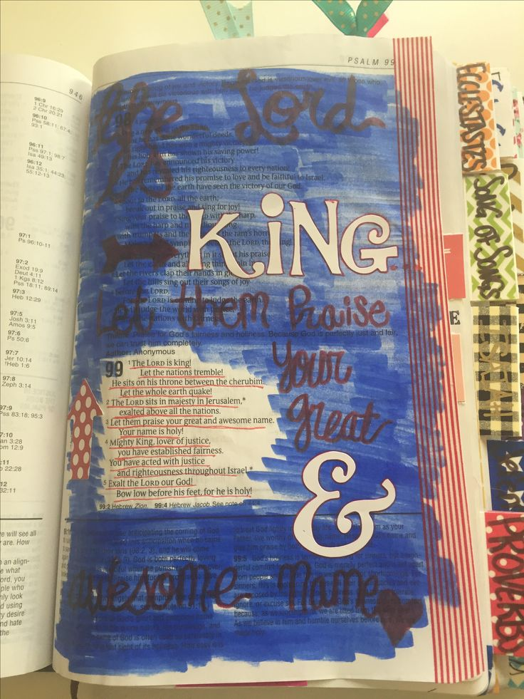 Psalms 99 #biblejournaling