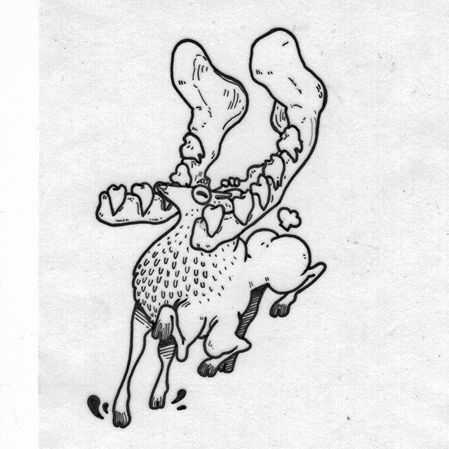 Venado y mandíbula. Había que cambiar un poco lo típico.  #art #illustration #drawing #draw #picture #artist #sketch #sketchbook #paper #tattoo #artsy #instaart #gallery #masterpiece #creative #photooftheday #instaartist #graphic #artoftheday #minimalism #minimalist #simple #simplicity #blackandwhite #bnw #monochrome