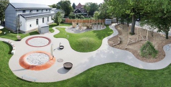Cour de la garderie Brackenheim en Allemagne