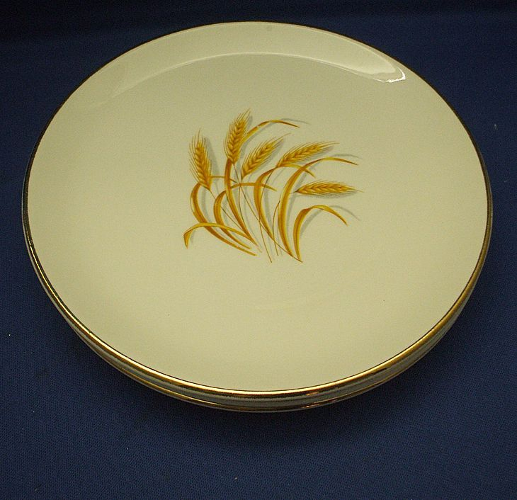 Vintage golden wheat dishes