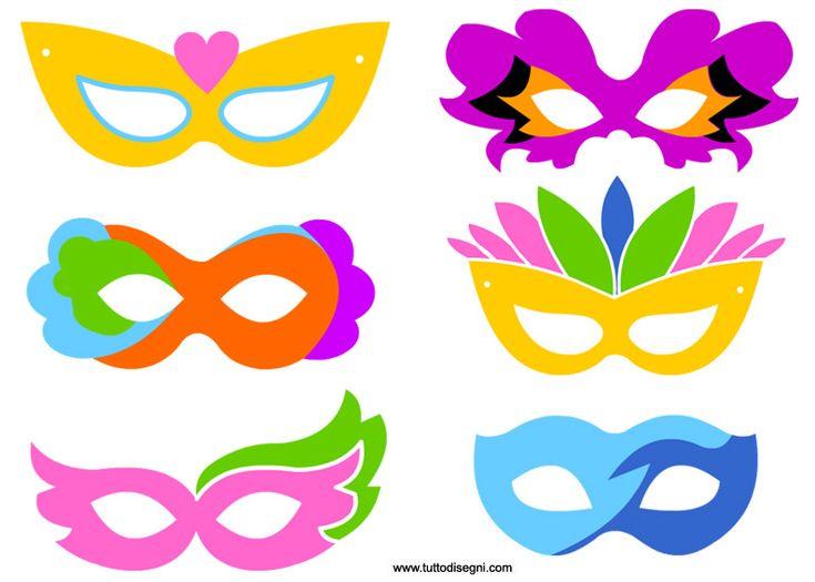Maschere di carnevale colorate - TuttoDisegni.com