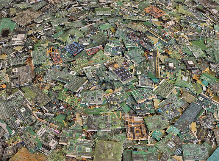 Chris Jordan - Intolerable Beauty: Portraits of American Mass Consumption  (2003 - 2005)     Circuit boards #2, New Orleans 2005     44 x 57""