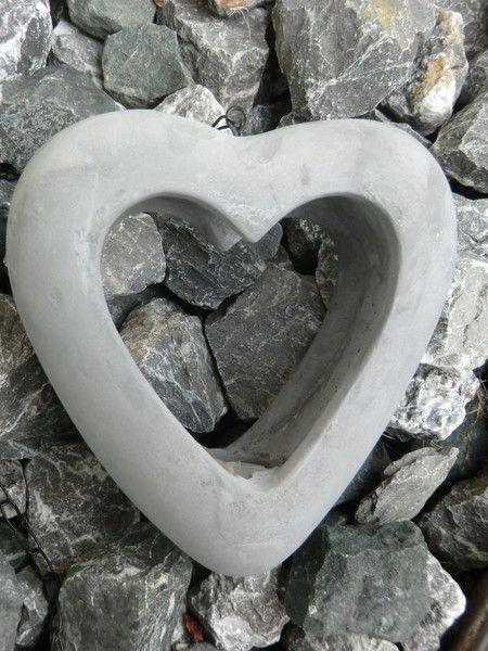 Herz Aus Beton Herzaufhänger Licht
