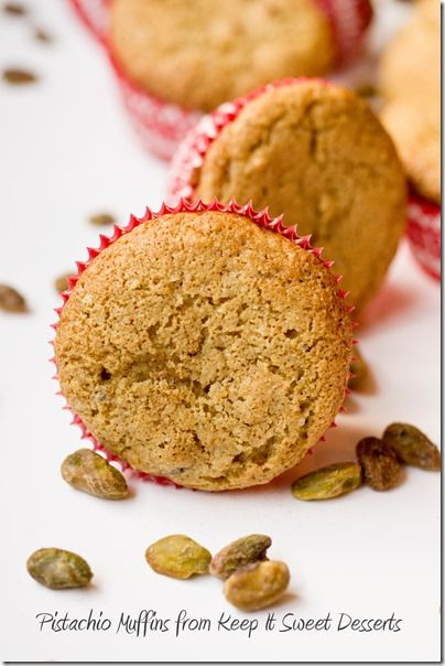 Pistachio Muffins - these would make a great treat for holiday brunch!