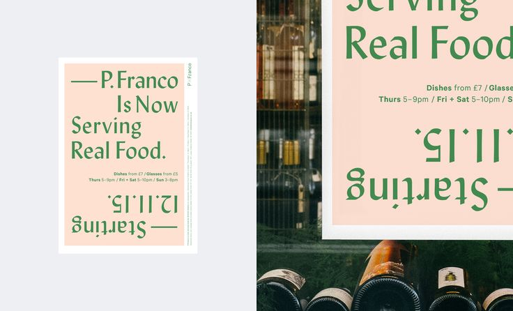 Poster Design for P.Franco, Lower Clapton // Typeset in Lydian
