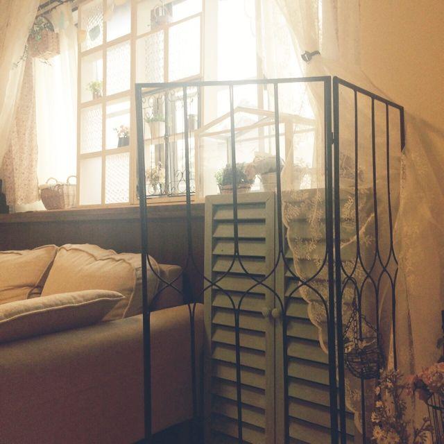 出窓/IKEAレースカーテン…などのインテリア実例 - 2014-04-03 16:37:47   RoomClip(ルームクリップ)