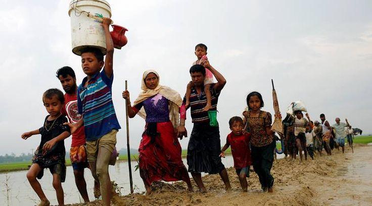 Bangladesh Minta Myanmar Terima Kembali Pengungsi Rohingya: Jika Kami Kembali Mereka Akan Bunuh Kami  Sejumlah pengungsi Muslim Rohingya menyelamatkan diri dari ancaman pembantaian oleh tentara Myanmar ke negara tetangga. (Foto: Mohammad Ponir Hossain/Reuters)  SALAM-ONLINE:Perdana Menteri Bangladesh Sheikh Hasina meminta PBB serta dunia internasional untuk menekan pemerintah Myanmar agar mau menerima kembali ratusan ribu etnis Rohingya yang terpaksa mengungsi ke negara-negara tetangga…